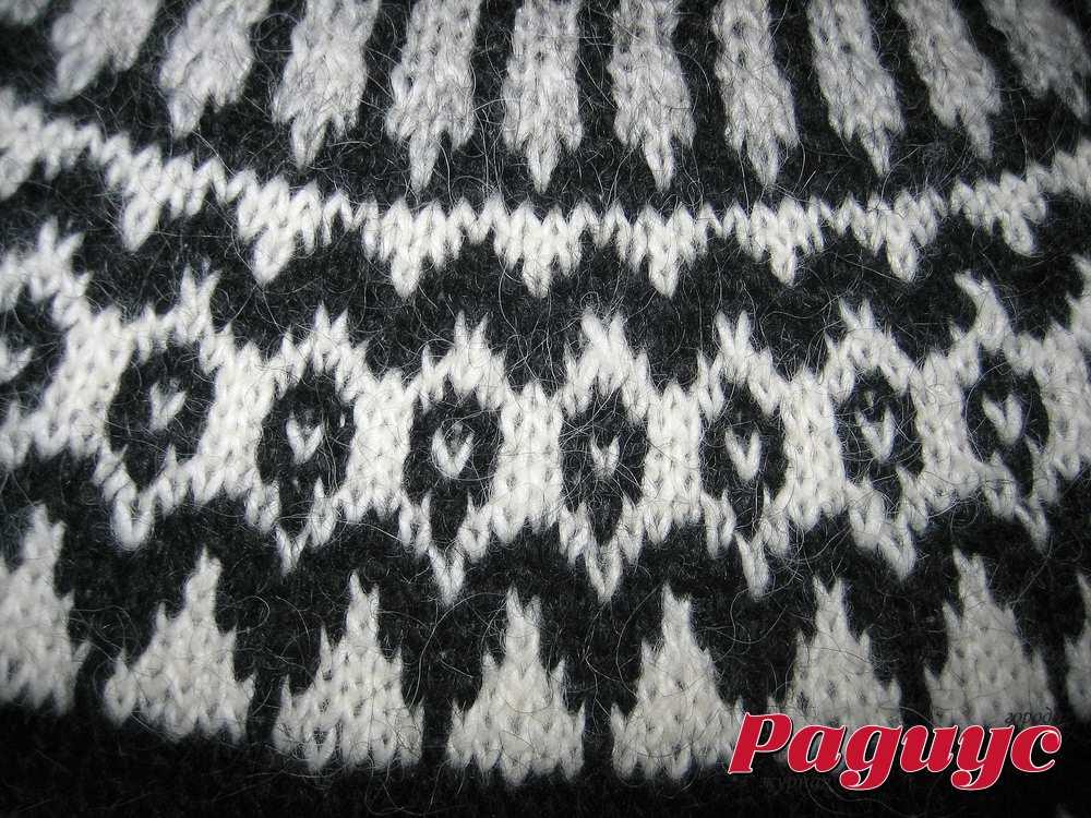 Вязание свитера узорами на спицах 32